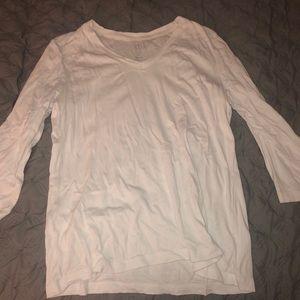 White three quarter length shirt